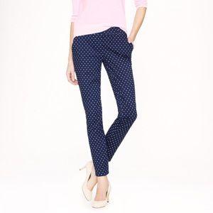 J. Crew Blue Polka Dot Cafe Capri Trouser Pants
